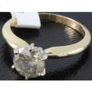 Women's 14K Yellow Gold 1.30 ctw Champagne Diamond Engagement Ring
